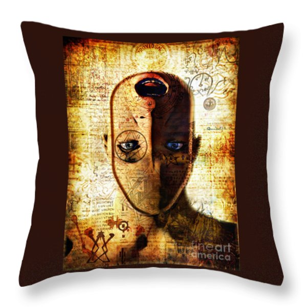 The King In Yellow Throw Pillow by Luca Oleastri