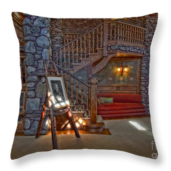 The King's Living Room Throw Pillow by Susan Candelario