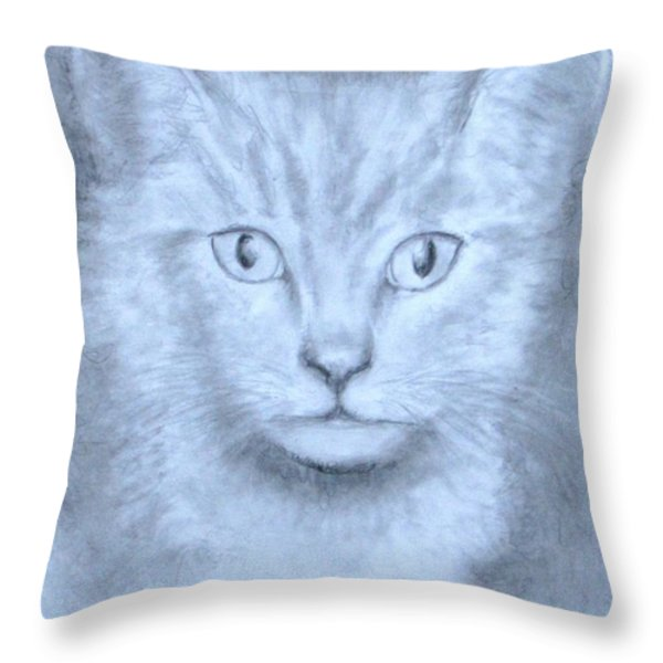 The Kitten Throw Pillow by Jack Skinner