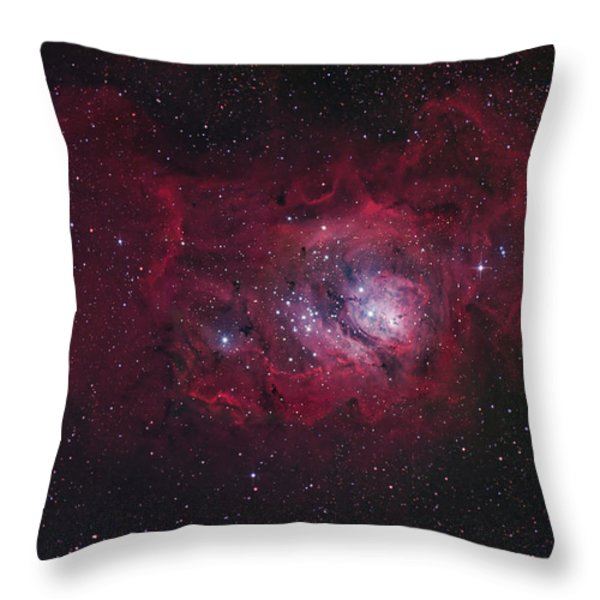 The Lagoon Nebula Throw Pillow by Robert Gendler