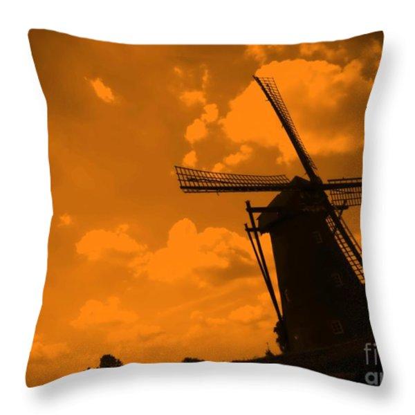 The Land Of Orange Throw Pillow by Carol Groenen
