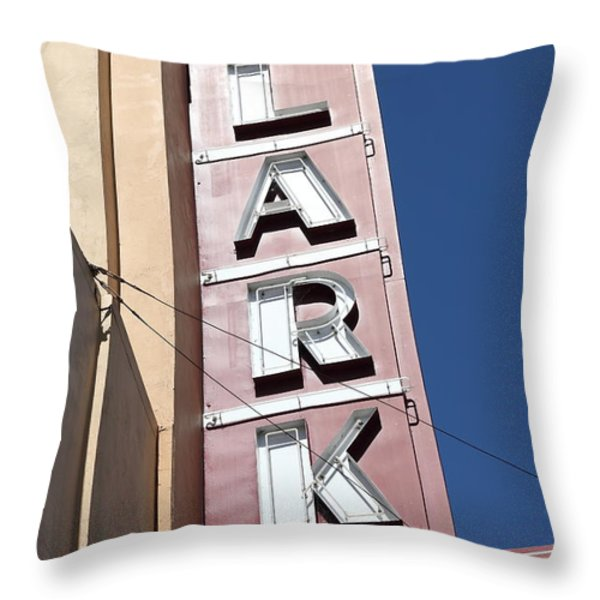 The Lark Theater in Larkspur California - 5D18489 Throw Pillow by Wingsdomain Art and Photography