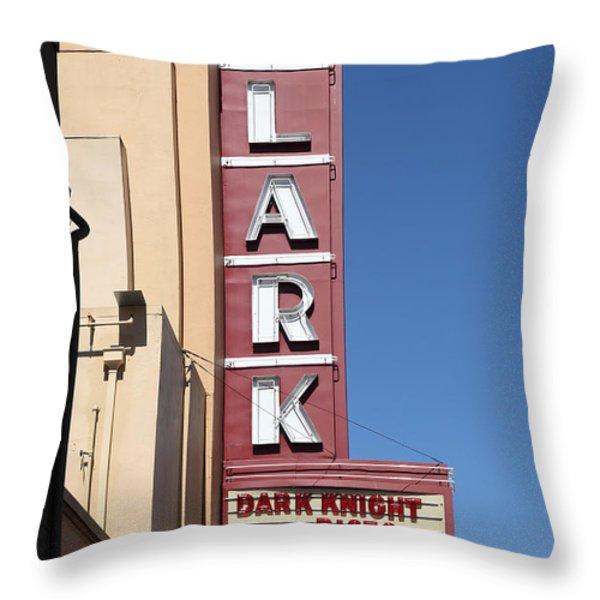 The Lark Theater in Larkspur California - 5D18490 Throw Pillow by Wingsdomain Art and Photography