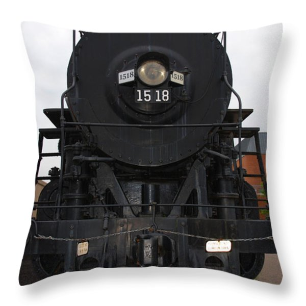 The Last Iron Horse Loc 1518 in Paducah KY Throw Pillow by Susanne Van Hulst