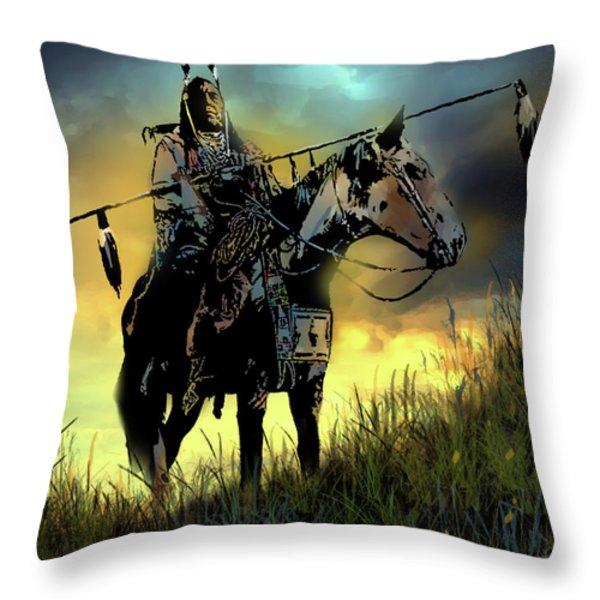 The Last Ride Throw Pillow by Paul Sachtleben