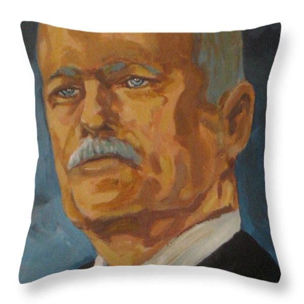 The Late Honorable Jack Layton Throw Pillow by John Malone