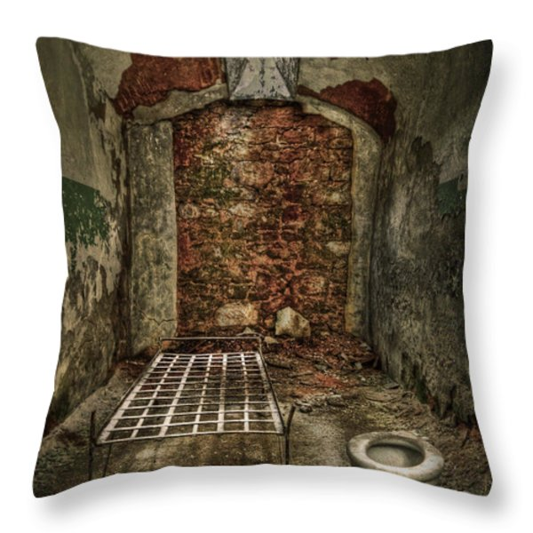 The Life Of Crime Throw Pillow by Evelina Kremsdorf