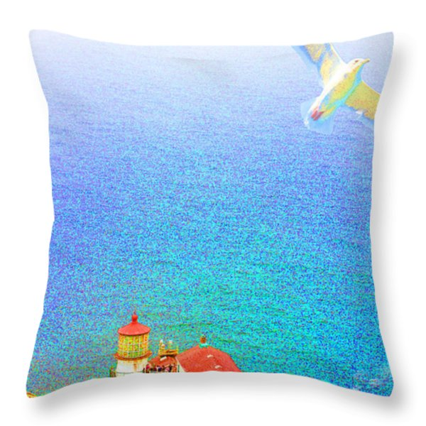 The Lighthouse Throw Pillow by Wingsdomain Art and Photography