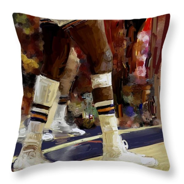The Limp Throw Pillow by Donna Johnson