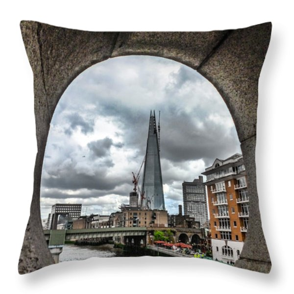 The London Shard Throw Pillow by Dawn OConnor