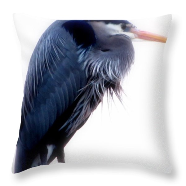 The Loner Throw Pillow by Sandy Rubini