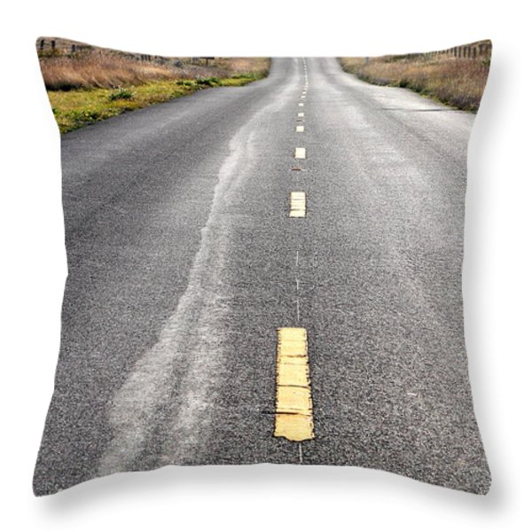 The Long Road Home . 7D9898 Throw Pillow by Wingsdomain Art and Photography