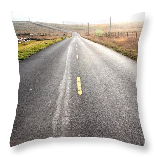 The Long Road Home . 7d9903 Throw Pillow by Wingsdomain Art and Photography
