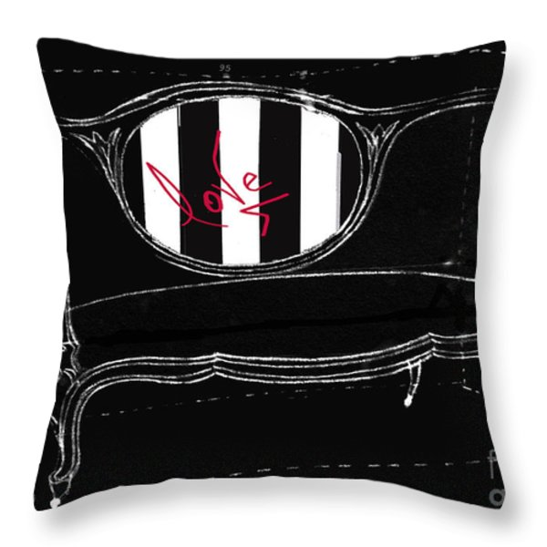 The Love Seat Throw Pillow by Anahi DeCanio