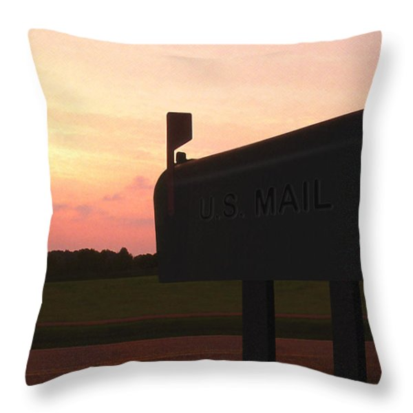 The Mail Of Old Throw Pillow by Mike McGlothlen