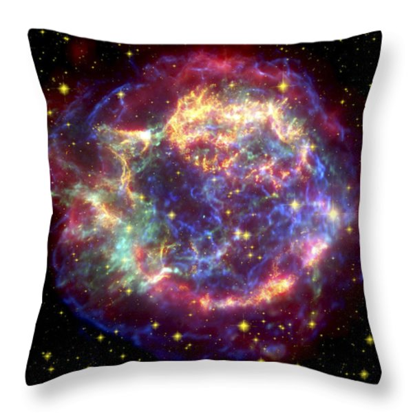 The Many Sides Of The Supernova Remnant Throw Pillow by Nasa