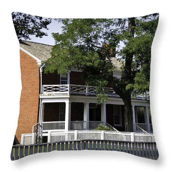 The Mclean House In Appomattox Virgina Throw Pillow by Teresa Mucha