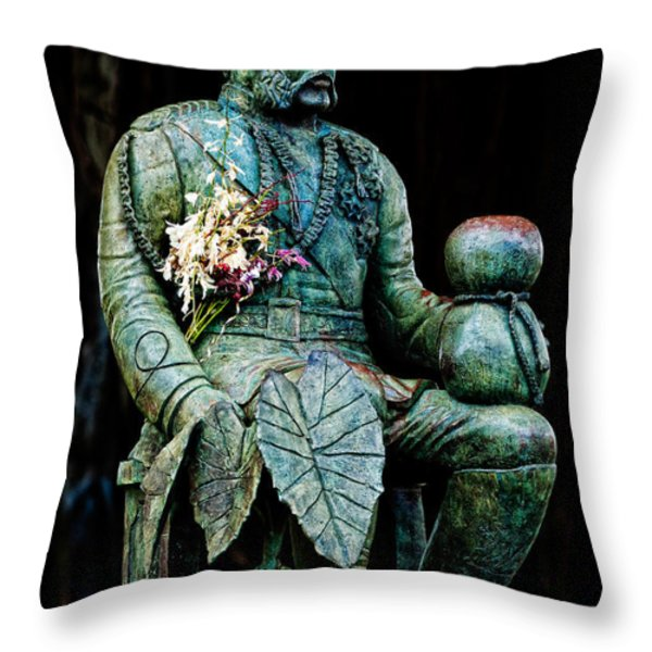 The Merrie Monarch Throw Pillow by Christopher Holmes