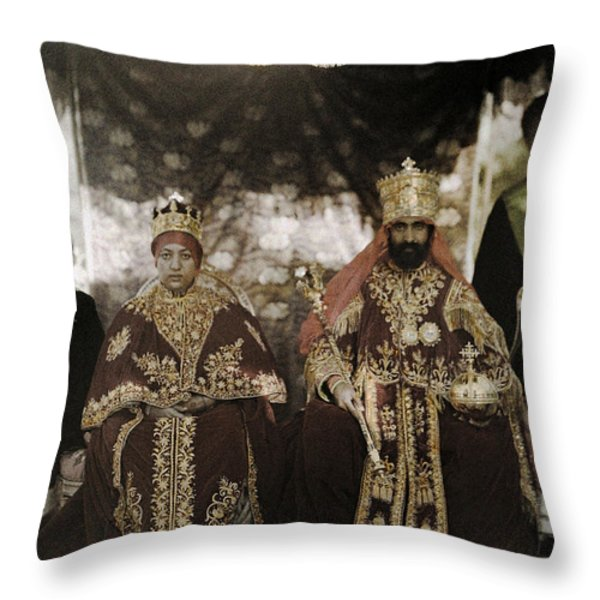 The Monarchs Haile Selassie The First Throw Pillow by W. Robert Moore