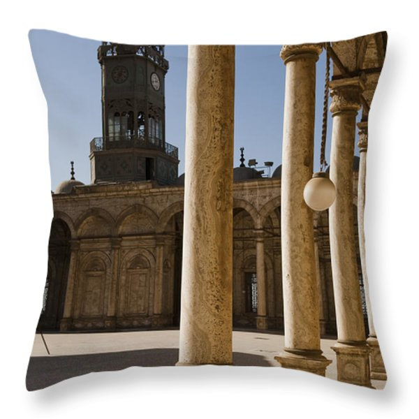 The Mosque Of Mohammed Ali In Saladins Throw Pillow by Taylor S. Kennedy