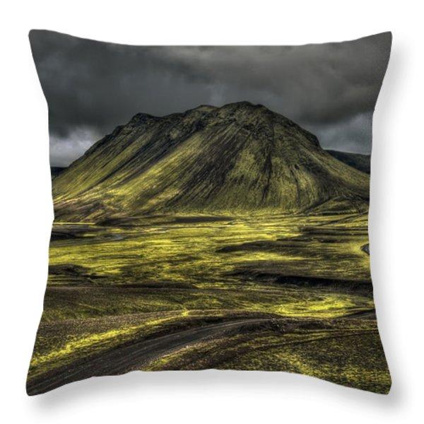 The Mountain Pass Throw Pillow by Evelina Kremsdorf
