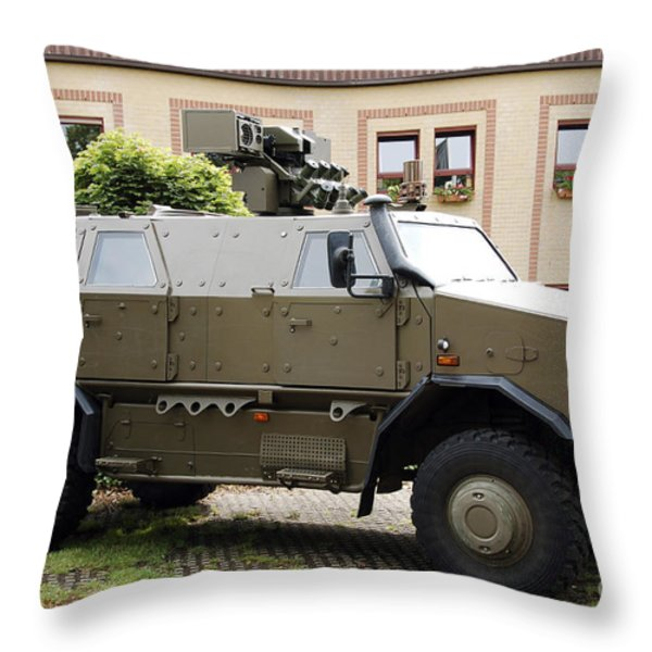 The Multi-purpose Protected Vehicle Throw Pillow by Luc De Jaeger