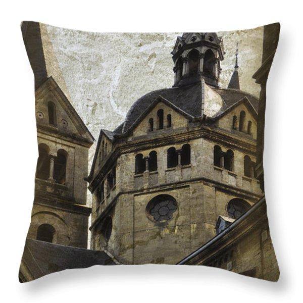 The Munsterkerk Roermond Throw Pillow by Mary Machare