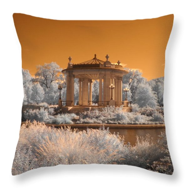 The Muny at Forest Park Throw Pillow by Jane Linders