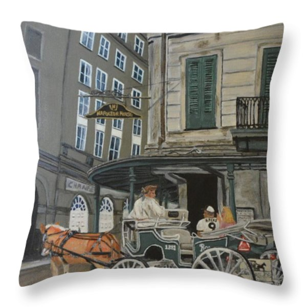 The Napolean House Throw Pillow by Amanda Ladner