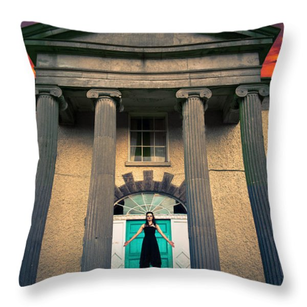 The Necromantic Ritual Throw Pillow by Semmick Photo