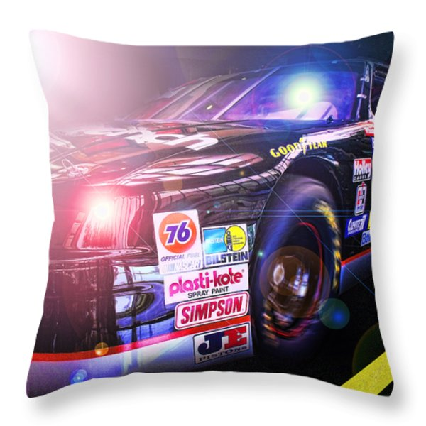 The Need For Speed 3 Throw Pillow by Kenneth Krolikowski
