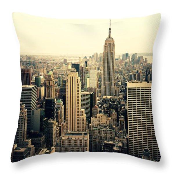 The New York City Skyline Throw Pillow by Vivienne Gucwa
