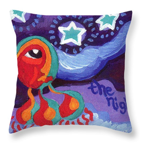 The Night Sky Throw Pillow by Genevieve Esson