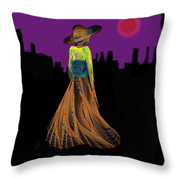 The Night With Kimono Throw Pillow by Hayrettin Karaerkek