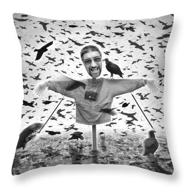 The Nightmare Throw Pillow by Mike McGlothlen