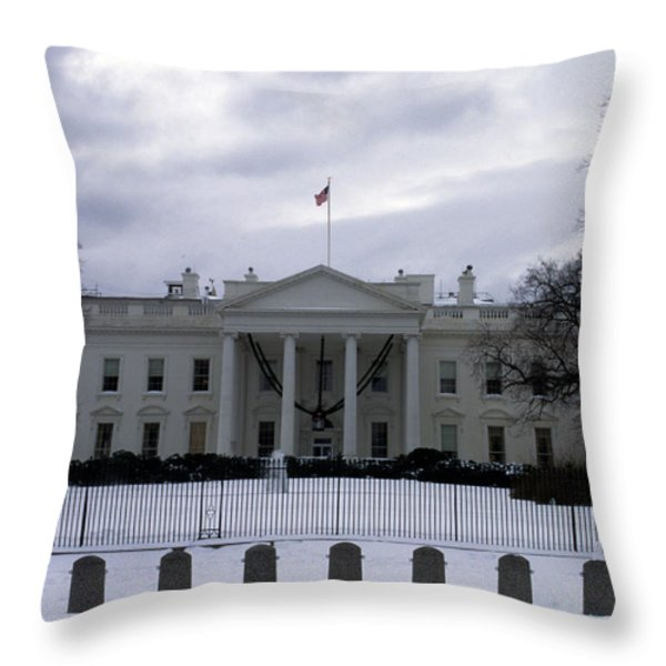 The North View Of The White House Throw Pillow by Stacy Gold