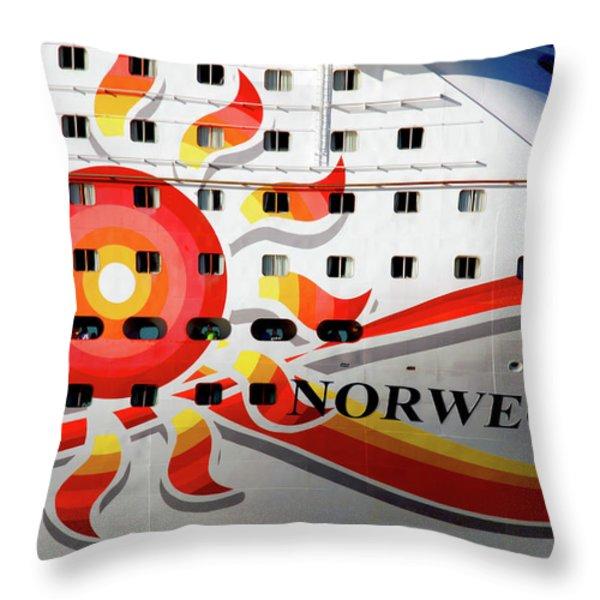 The Norwegian Sun Bow Throw Pillow by Susanne Van Hulst
