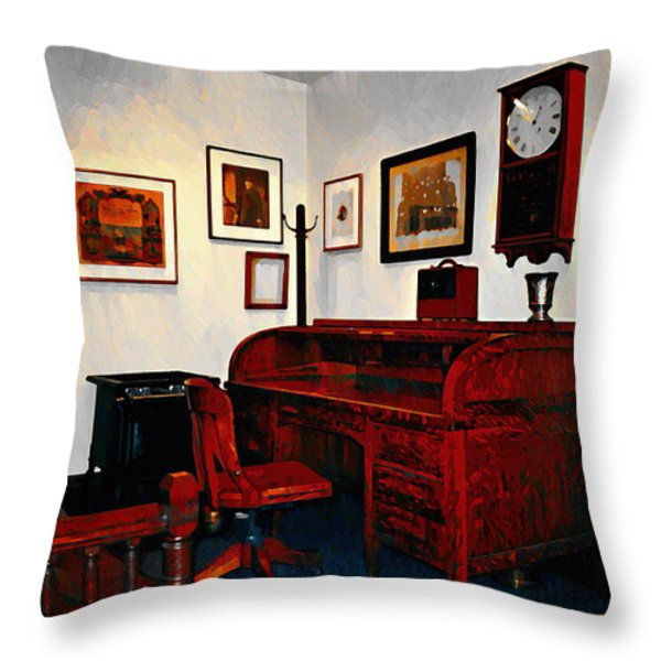 The Office Throw Pillow by Bill Cannon