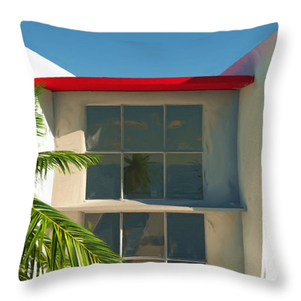 The Old Bay House Throw Pillow by Richard Rizzo