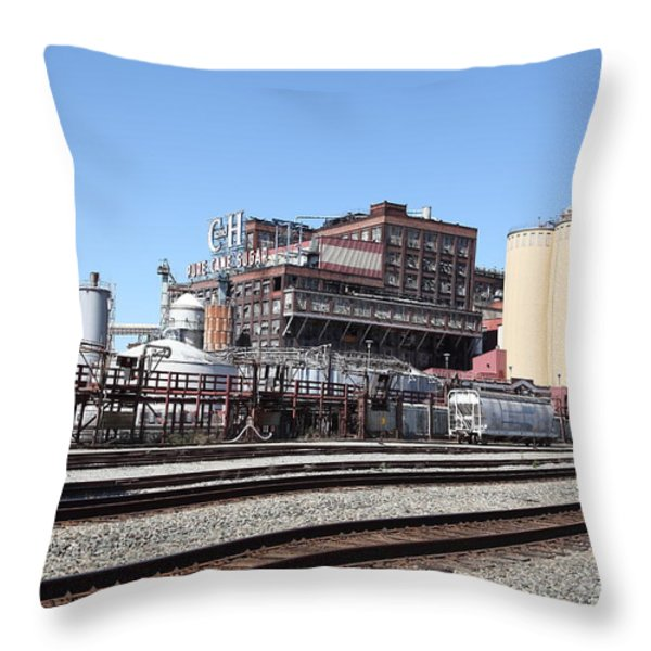 The Old California And Hawaii Sugar Company In Crockett California . C And H . 5d16766 Throw Pillow by Wingsdomain Art and Photography