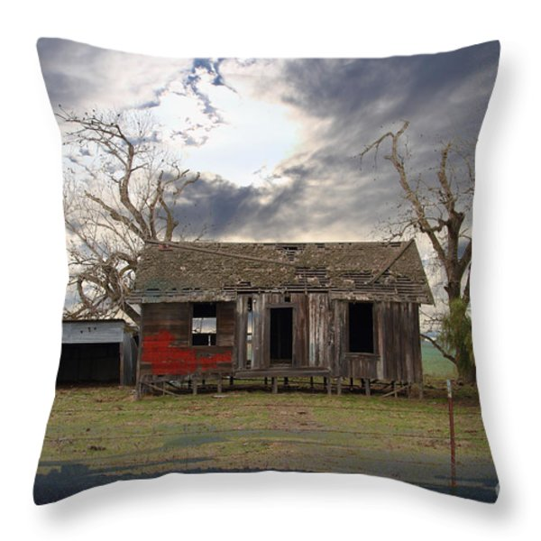 The Old Farm House In My Dreams Throw Pillow by Wingsdomain Art and Photography