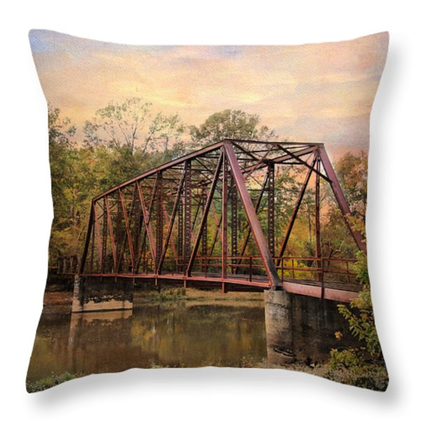 The Old Iron Bridge Throw Pillow by Jai Johnson