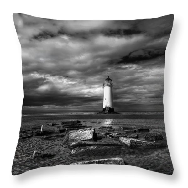 The Old Lighthouse  Throw Pillow by Adrian Evans