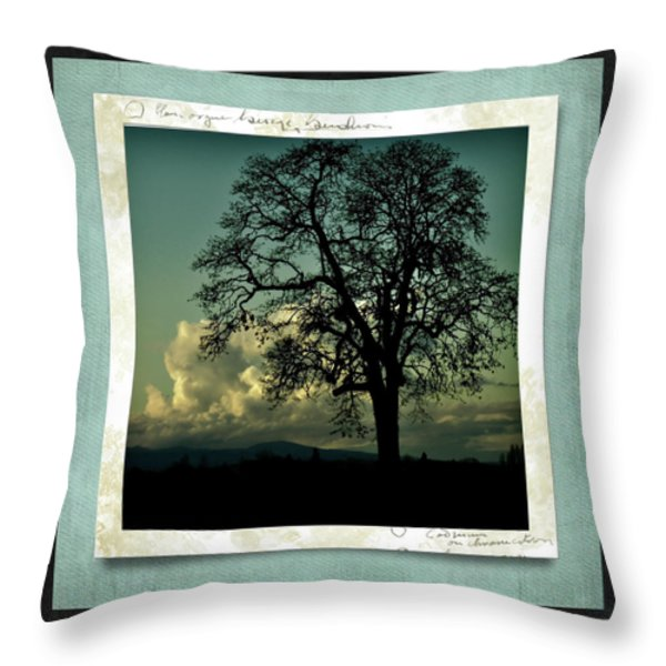 The Old Oak Throw Pillow by Bonnie Bruno