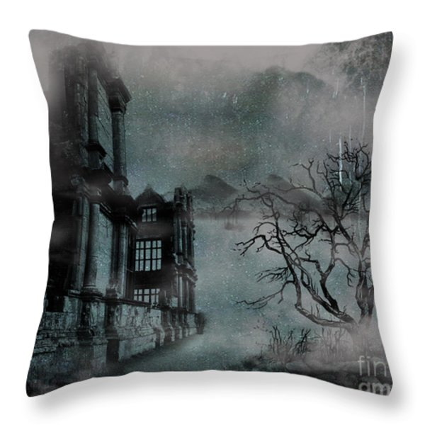 The Old Ruins Throw Pillow by Cheryl Young