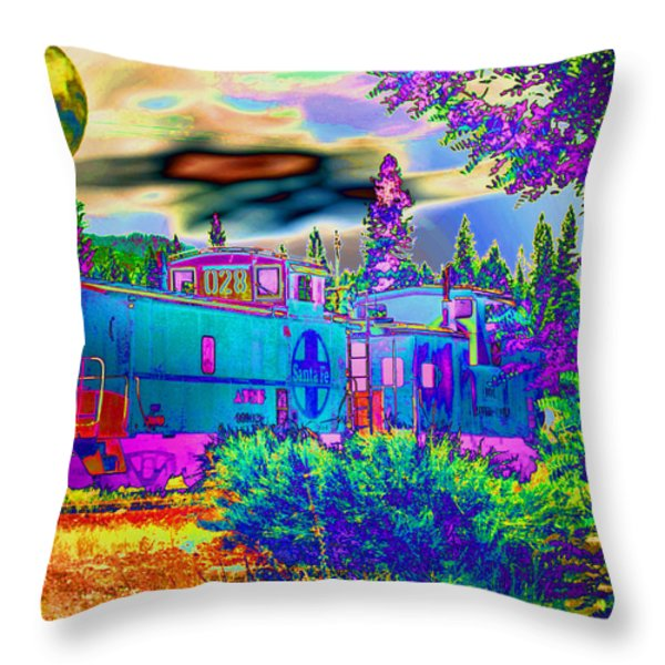 The Old Santa Fe Throw Pillow by Joyce Dickens