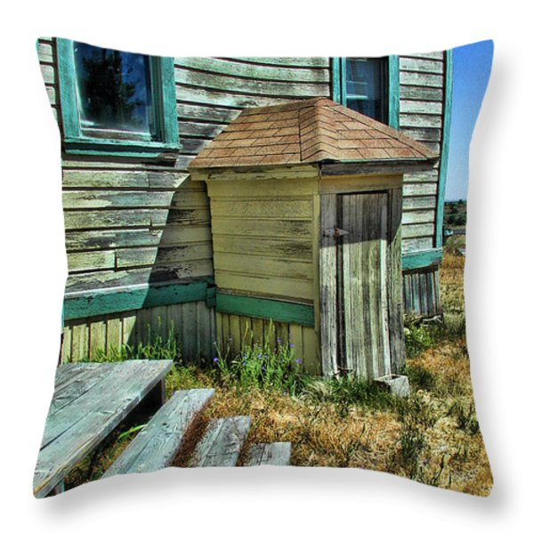 The Old Schoolhouse Throw Pillow by Bonnie Bruno