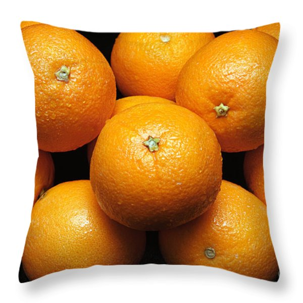 The Oranges Throw Pillow by Andee Design