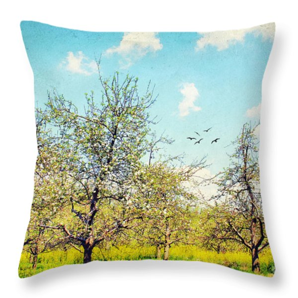 The Orchard Throw Pillow by Darren Fisher