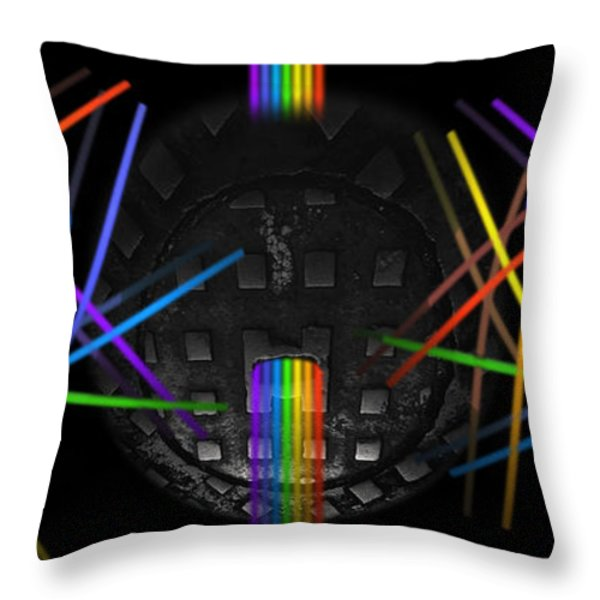 The Origin Of Light Throw Pillow by Charles Stuart